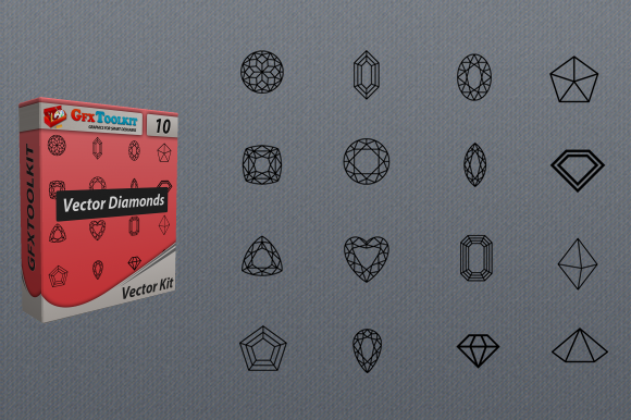 16 Vector Diamonds Shapes