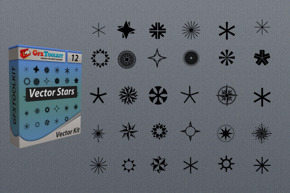 30 Vector Stars Vector Shapes