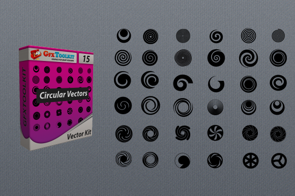 36 Circular Vector Designs