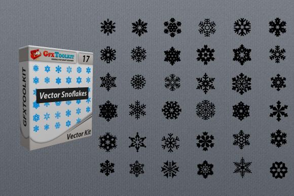 36 Vector Snowflakes