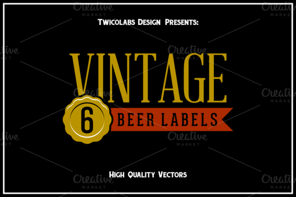 6 Beer Label