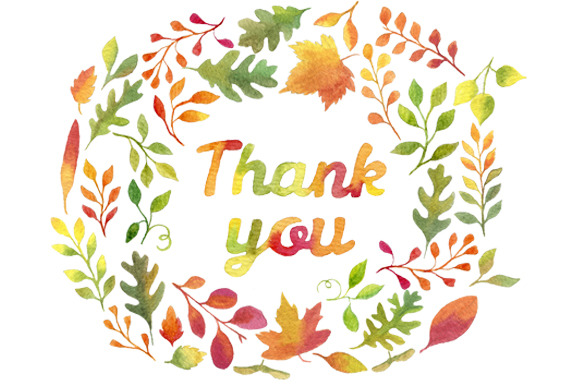 Thank You In Autumn Leaves Wreath