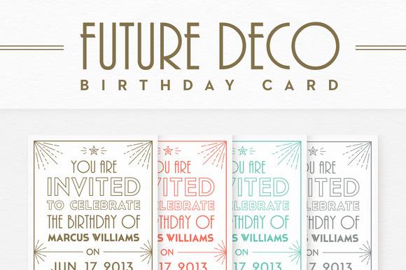 FutureDeco Birthday Card