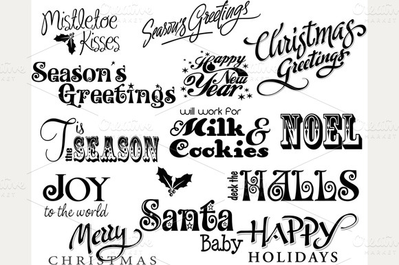 Christmas Card Word Art