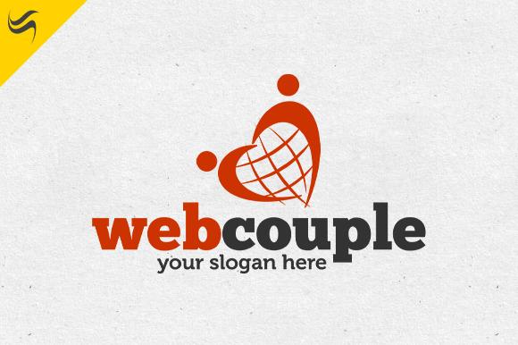 Web Couple Logo Template