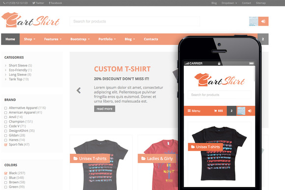 CartShirt Ecommerce Theme