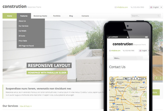 Construction Clean HTML5 Theme