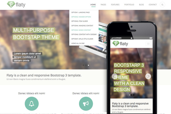 Flaty Multipurpose Bootstrap Theme