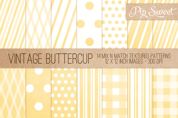 Vintage Buttercup 14 Pattern Set
