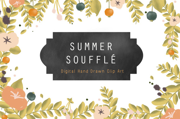 Flower Clip Art Summer Souffle