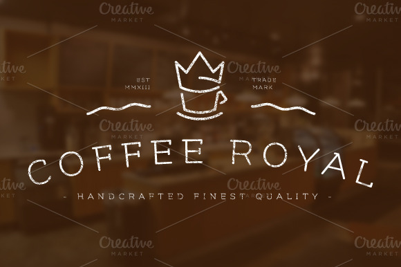 Coffee Royal Logo Badge Template