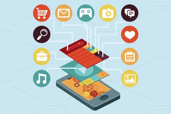 Vector Mobile App Concept