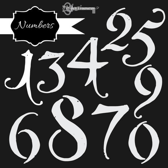 Vintage Chalkboard Numbers