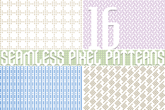 16 Seamless Pixel Patterns