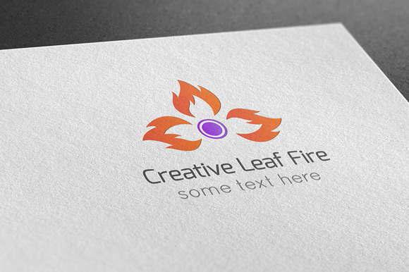 Creative Leaf Fire Logo