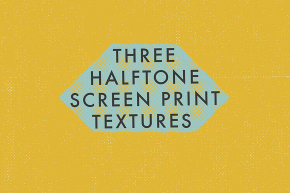 3 Halftone Screen Print Textures