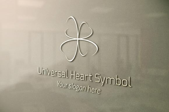 Universal Heart Symbol Logo