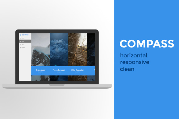 Compass Horizontal Gallery Theme