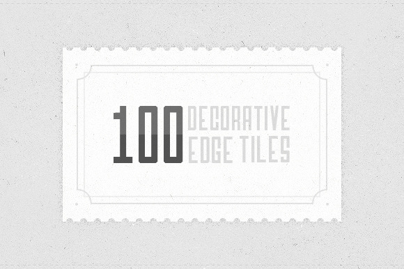 100 Decorative Edge Tiles