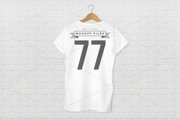 Back T-Shirt Design Mockup
