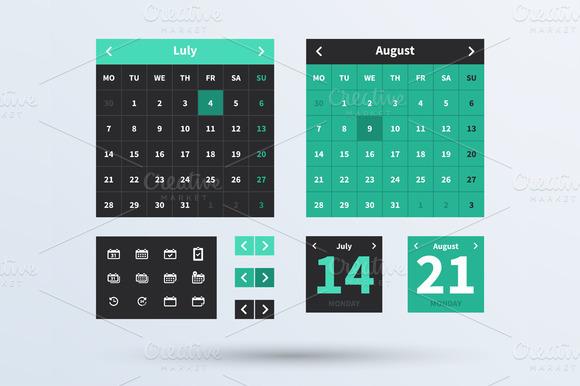 Calendar UI Set