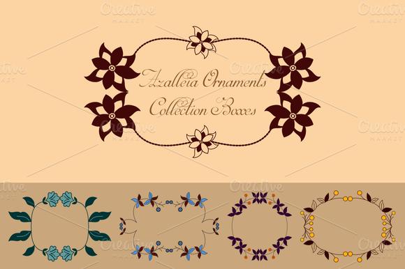 Azalleia Ornaments Vector Boxes