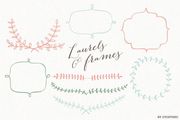 Laurels Frames Clip Art