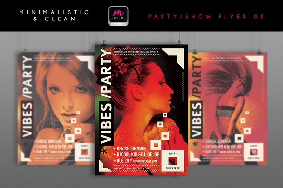 Minimalistic Party Show Flyer 08