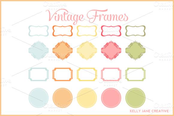 Pastel Vintage Frames