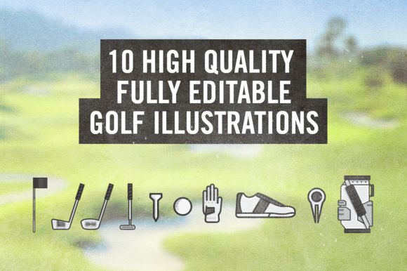 10 High Quality Golf Illustrations