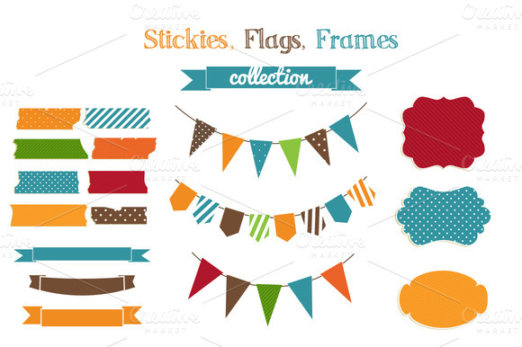 Stickies Flags Frames Collection