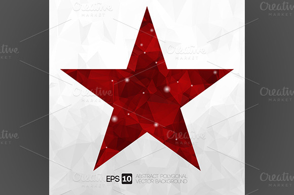 Vector Abstract Polygonal Star