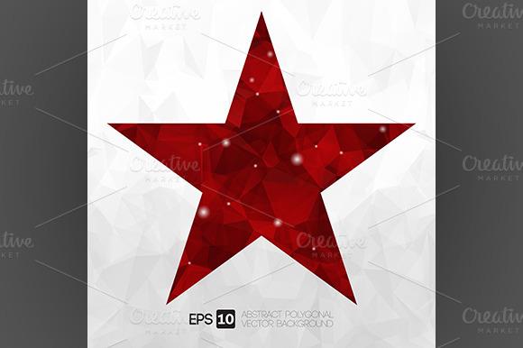 Vector Abstract Polygonal Star