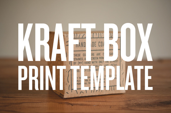 Print Template 4 X4 Kraft Box