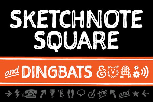 Sketchnote Square Dingbats