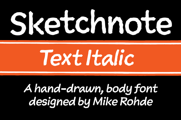 Sketchnote Text Italic