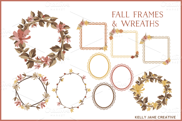 Fall Wreaths Lace Frames