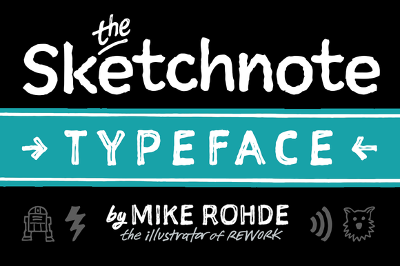 The Sketchnote Typeface Full Family