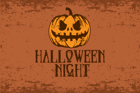 Halloween Pumpkin Grunge Vector