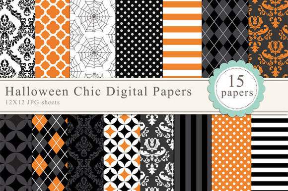 Halloween Chic Digital Papers