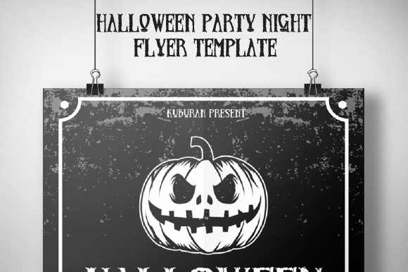 Halloween Party Night Flyer Template