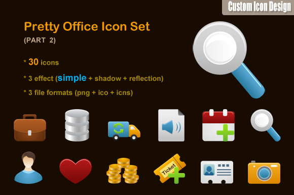 Pretty Office Icon Set Part 2