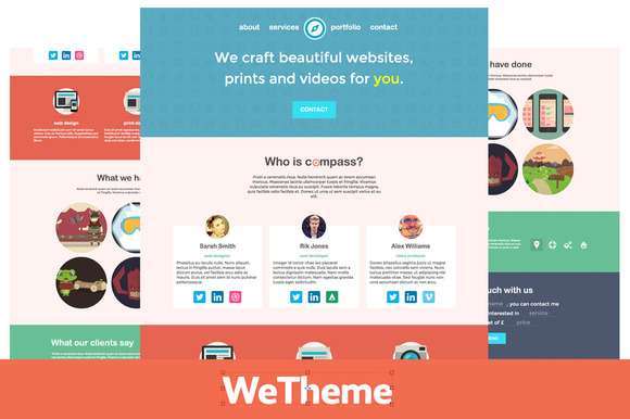 Compass Agency Freelancer Theme