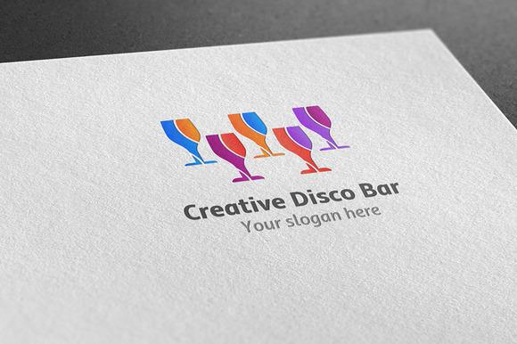 Creative Disco Bar Logo