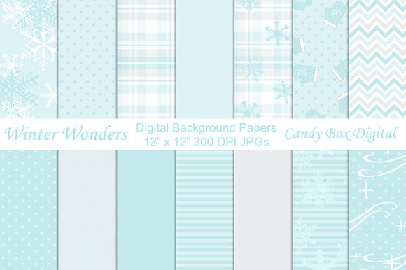 Winter Wonders Digital Backgrounds