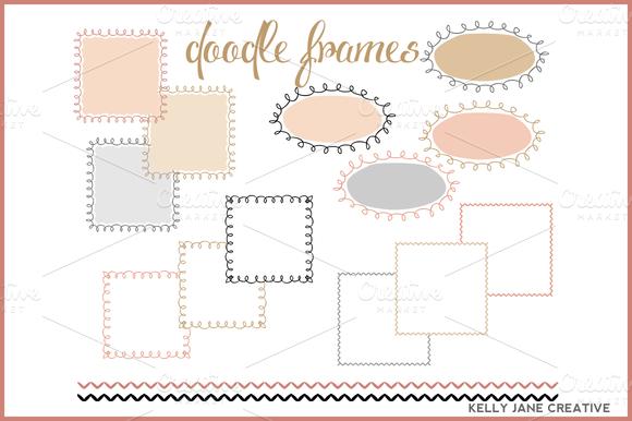 Doodle Frames In Blush Gold
