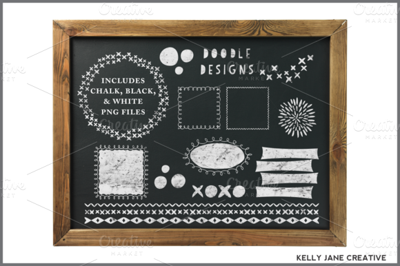 Chalkboard Doodle Frames Graphics