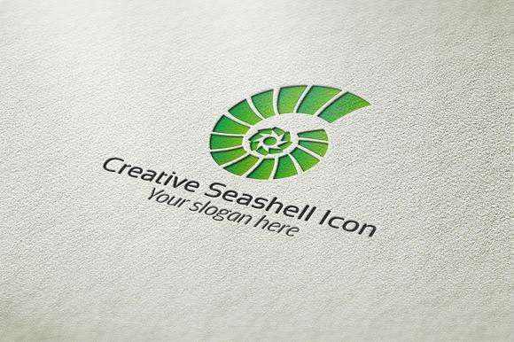 Creative Seashell Icon Logo