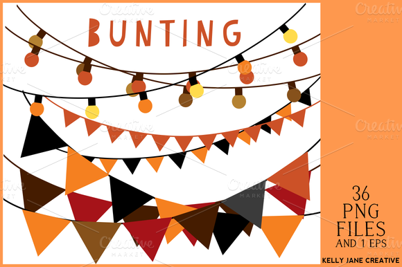 Halloween Bunting String Of Lights