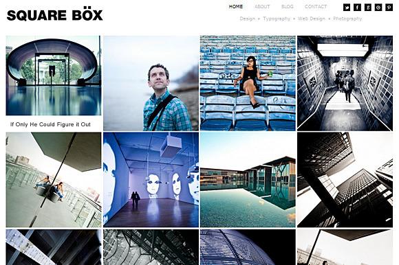 Square Box Responsive Theme